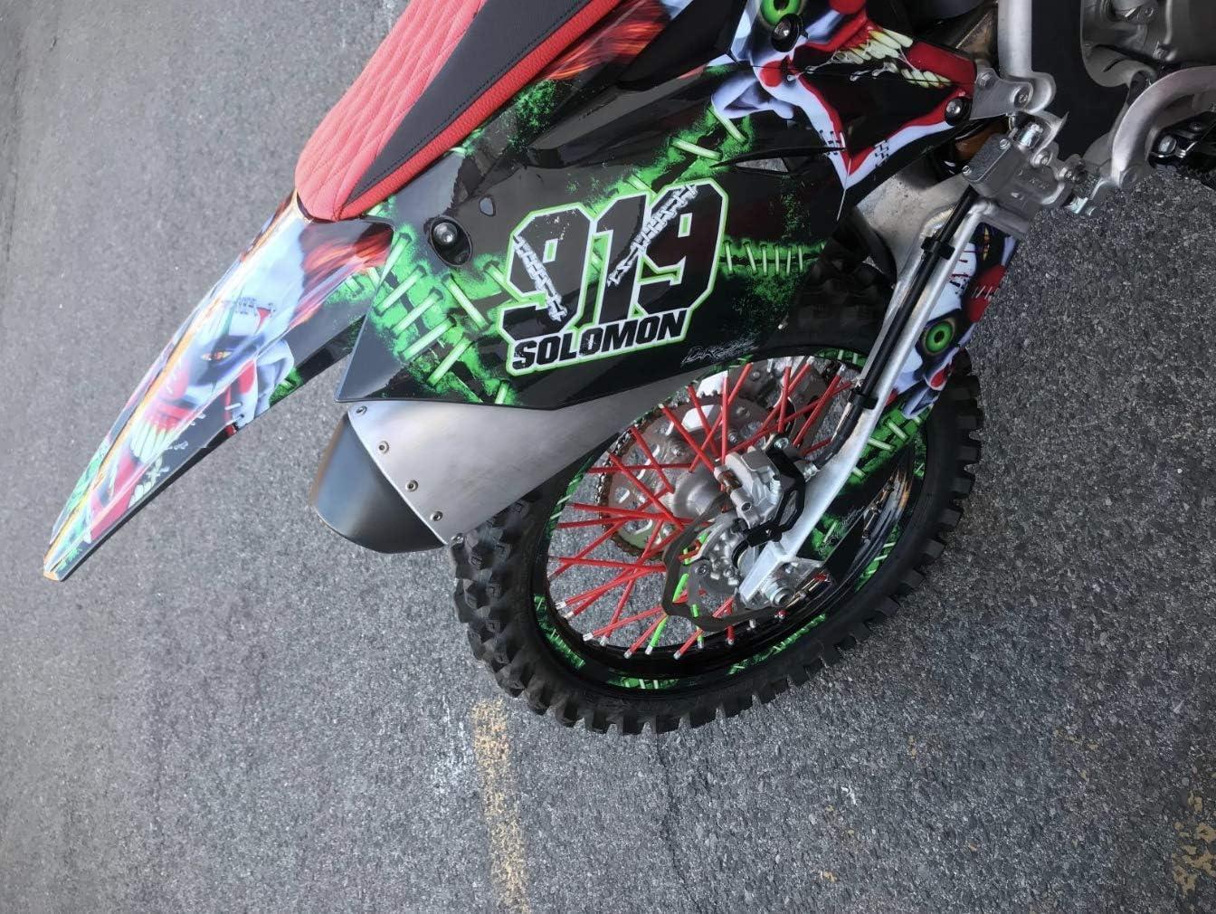 YUANXU Bicycle Spoke Skin Coats Covers Wraps 8-21 Rims for Motorcycle Dirt Bike Kawasaki Honda Suzuki Colorful Wheel Decoration-72 pcs