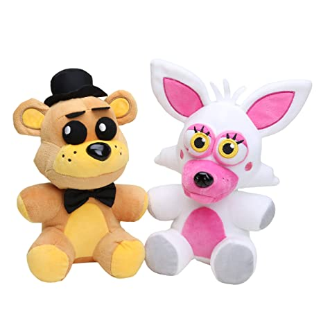 FNAF Toys Mangle Plush & Golden Freddy Plush set of 2, 10inch
