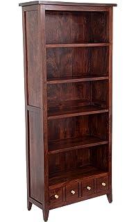 Mango Dark Wood Open BookcaseLiving Room Furniture Amazonco