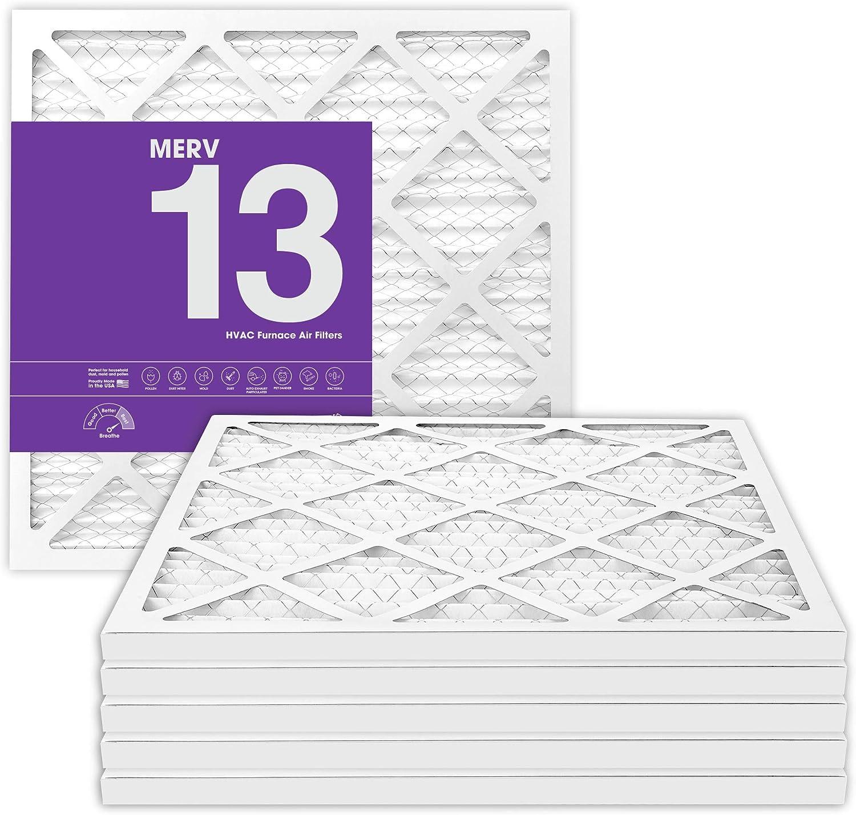 MervFilters 12x12x1 Air Filter, MERV 13, MPR 1500, AC Furnace Air Filter, 6 Pack