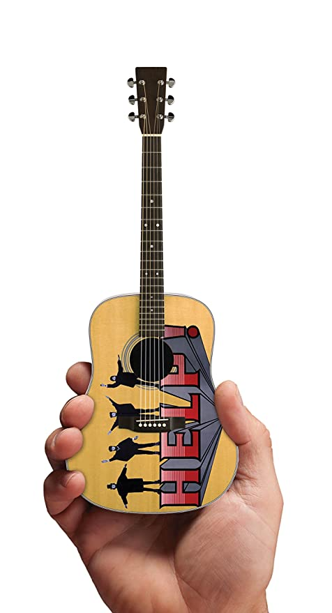 Axe Heaven: Beatles Help Fab Four Tribute Miniature Guitar Model. para Guitarra Electrica