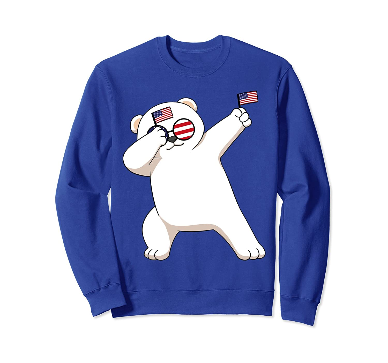 American Pride Polar Bear USA Dabbing Funny Sweatshirt-AZP
