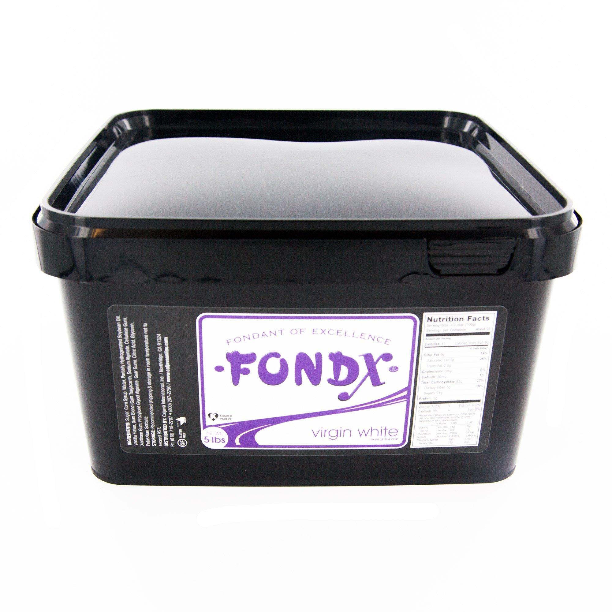 FondX Rolled Fondant Icing Virgin White 5 Pounds