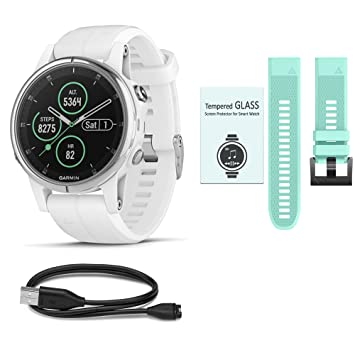 WhoIsCamera Garmin Fenix 5S Plus Multi Sport Watch Ultimate Bundle -  Includes Additional Band | Screen Protectors | Plus More Accessories