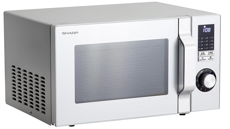Sharp R-744 S Plata microonda con Grill: Amazon.es: Grandes ...