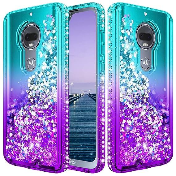 Moto G7 Case, Moto G7 Plus Case,Moto G7 Glitter Case,UCC Liquid Diamond  Glitter Girls Women Phone Case for Motorola Moto G7/G7 Plus Phone