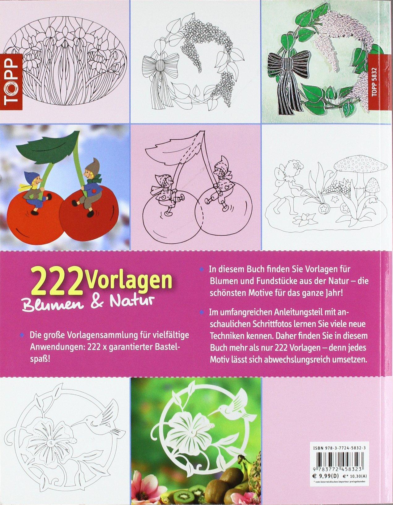 222 Vorlagen Blumen und Natur: Vielfältig nutzbar für Fensterbilder ...