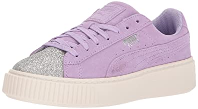 ba40edfa72f7c6 PUMA Kids  Suede Platform Glam Sneaker