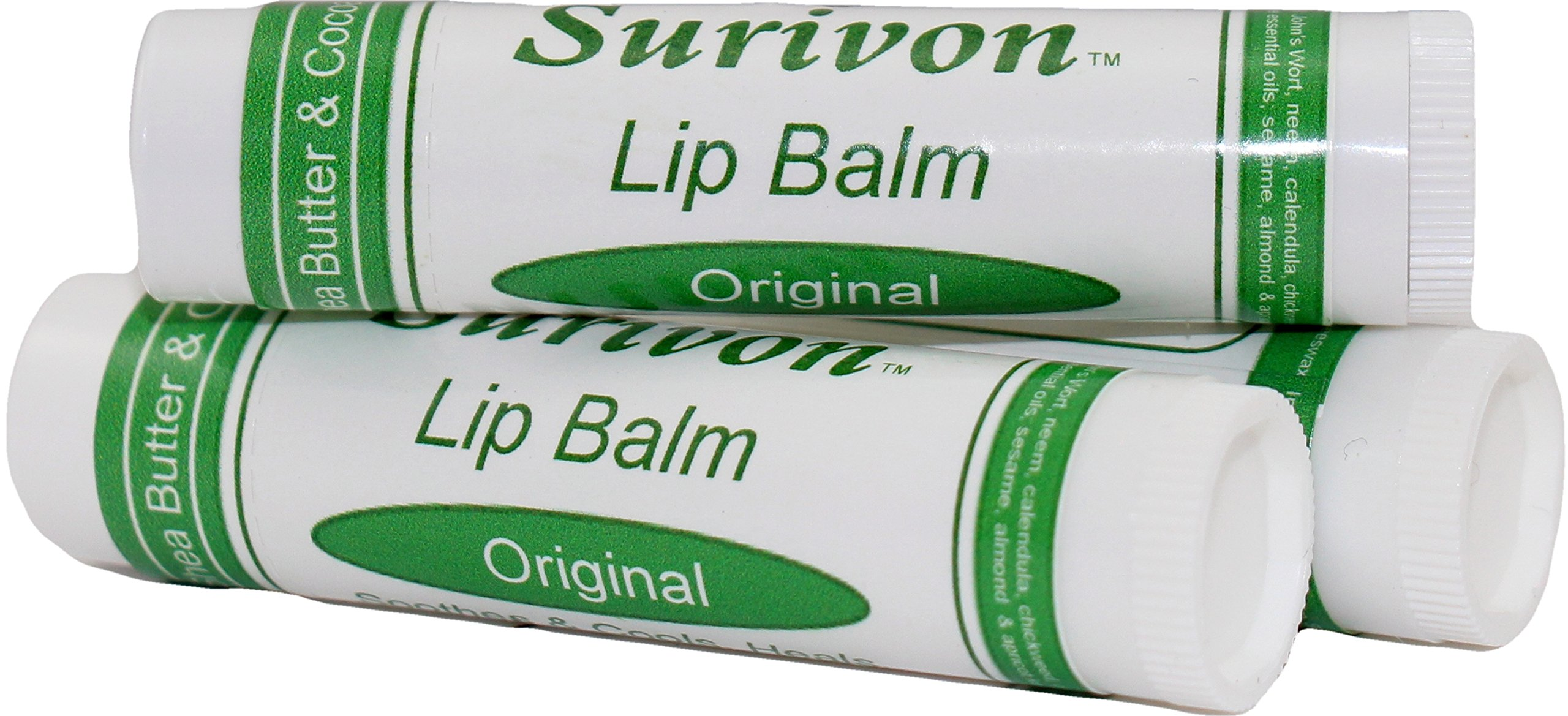 Surivon Lip Balm - 3 pack, Original Formula by Cloverleaf Farm