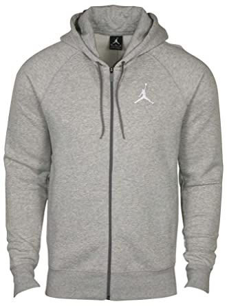 Men's Basketball Grey Jumpman Full Aj Jordan Nike Zip Hoodie Heather vqwpB