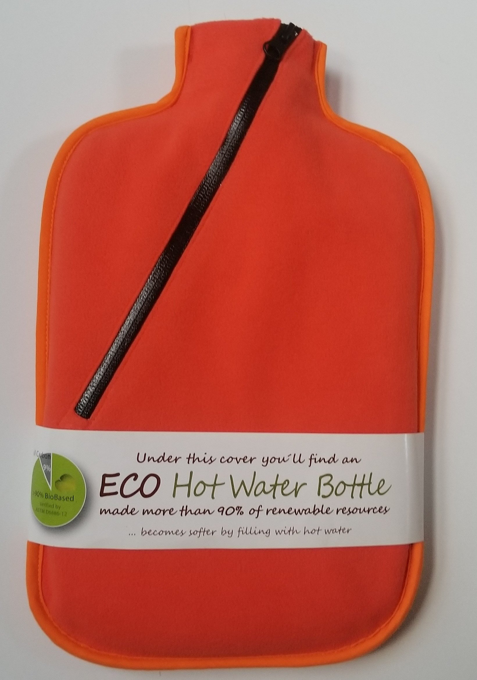 Hugo Frosch 2L Eco Hot Water Bottle with Cover, Highest Quality, Bed Warmer, Stay Warm Camping - Made in Germany (orange) by Hugo Frosch