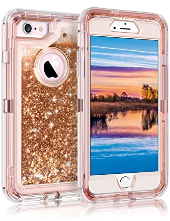 Coolden Case for iPhone 6S Case Protective Glitter Case for Women Girls  Cute Floating Liquid 3D 8dfccbbb20