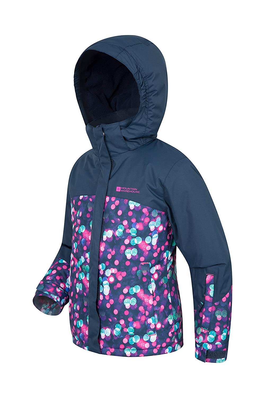 Printed Winter Coat Mountain Warehouse Night Light Kids Ski Jacket