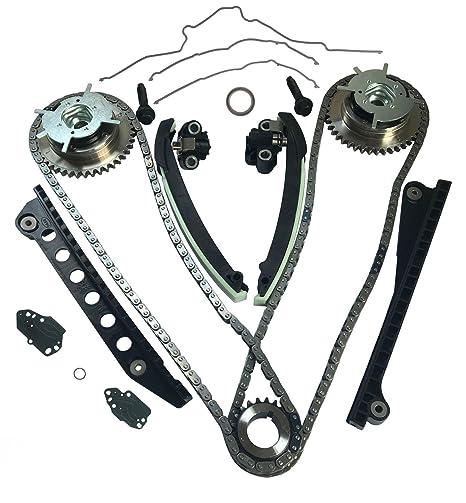 Auto Parts Prodigy - Kit de cadena de distribución de 3 válvulas con guías de tensión, ...