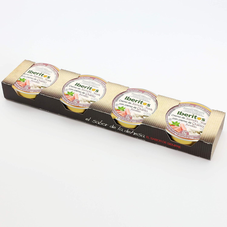 Iberitos - 64 Monodosis De Crema De York Con Queso - 23 Gramos: Amazon.es: Alimentación y bebidas