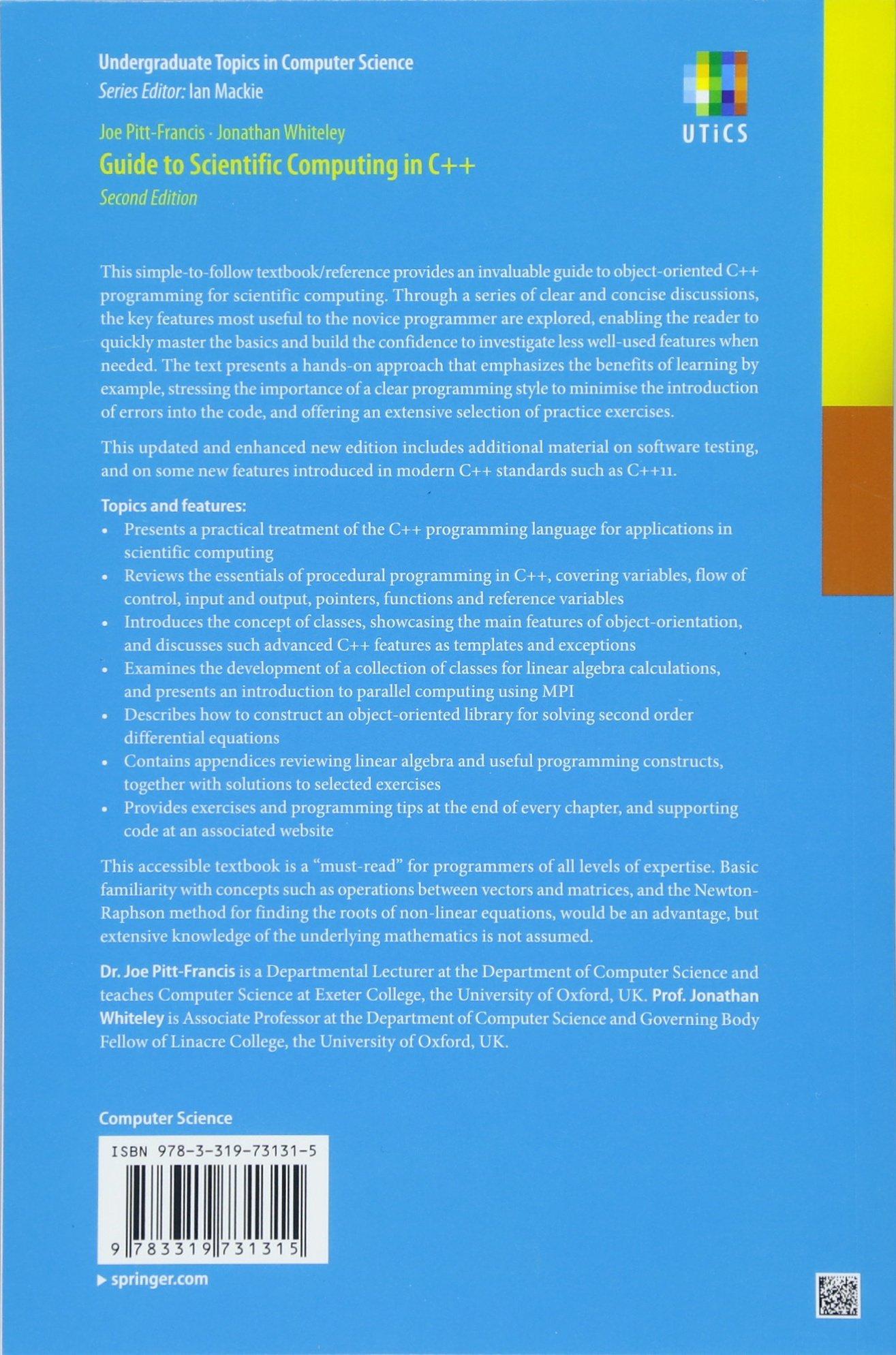 Buy Guide to Scientific Computing in C++ (Undergraduate Topics in ...