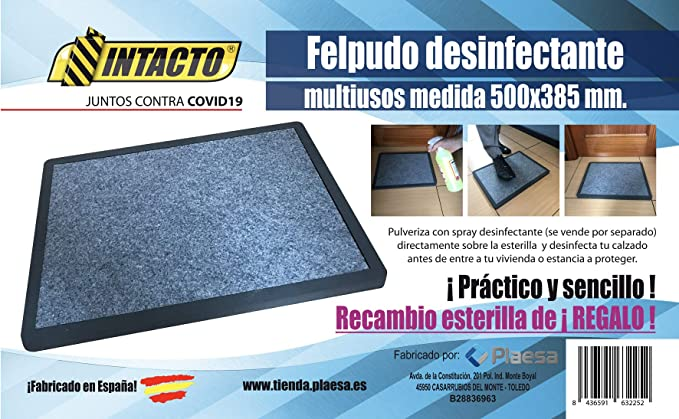 Felpudo DESINFECTANTE doméstico 500x385 mm.: Amazon.es: Hogar