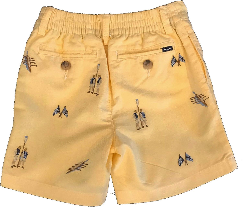 Spring Yellow Appliqued Row Team Ralph Lauren Baby//Toddler Boys Shorts
