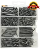High Quality Hardware Nail and Brad Assortment Kit, Includes Over 500 Pieces