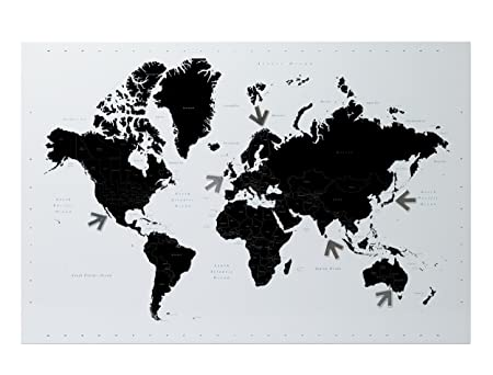 Pt world map magnetic steel memo board amazon kitchen home pt world map magnetic steel memo board gumiabroncs Images