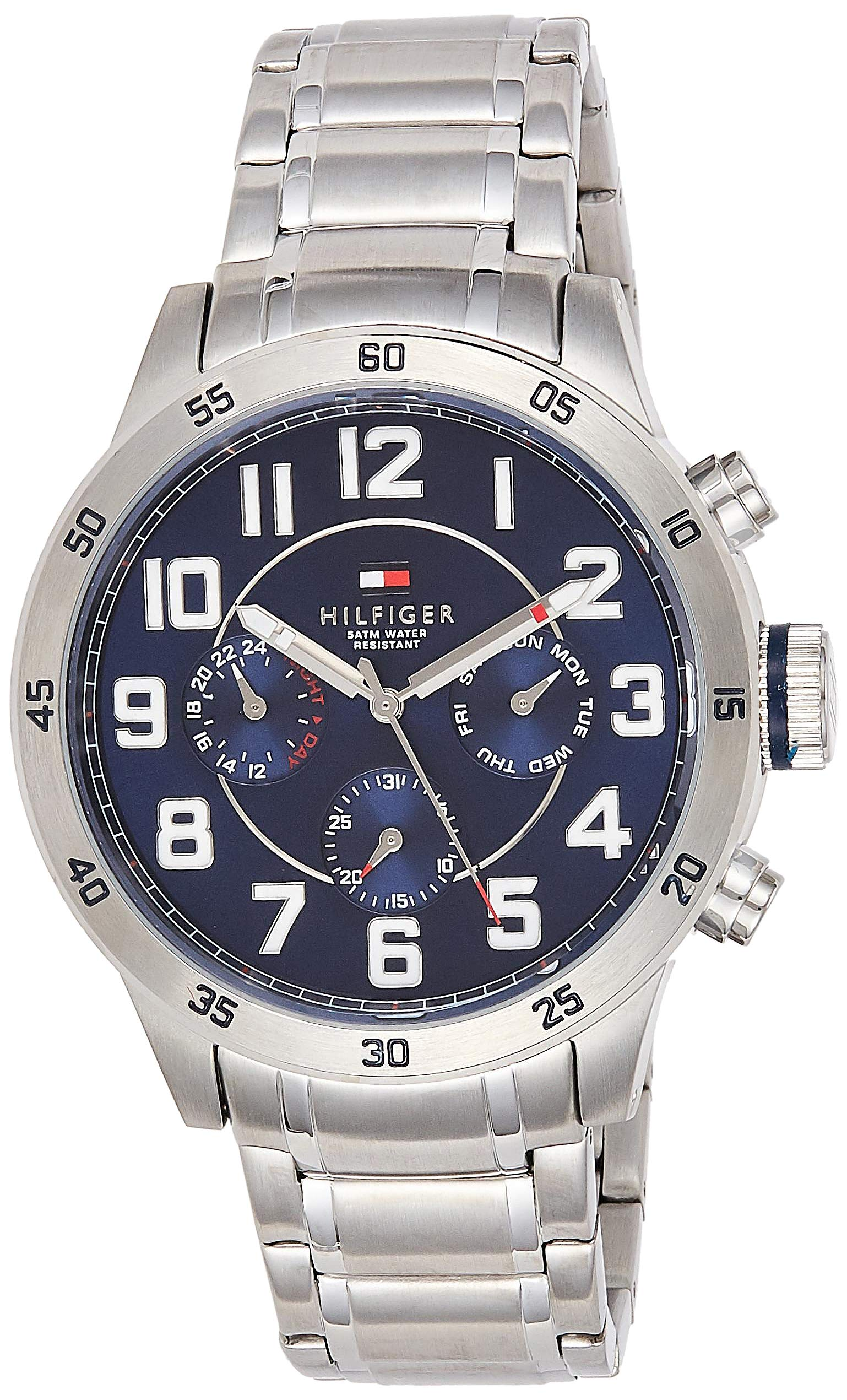 Tommy Hilfiger Men's 1791053 Stainless Steel Watch with Link Bracelet by Tommy Hilfiger