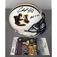 $160 » Chris Davis SIGNED Auburn Tigers Chrome Football Mini Helmet w/JSA COA - Autographed NFL Mini Helmets