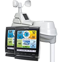 $110 » AcuRite 01078 Wireless Weather Station with 2 Displays and 5-in-1 Weather Sensor: Temperature…