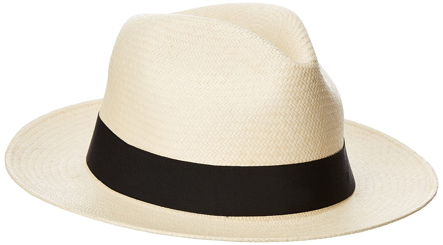 Henschel Mens Genuine Panama Straw 2 3/8 Brim, Hand Woven in Ecuador Natural X-Large Henschel Headwear Child Code 3152-73