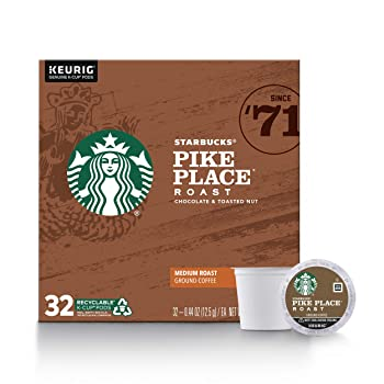 Starbucks Pike Place Roast Cocoa And Nuts Flavor K-Cup