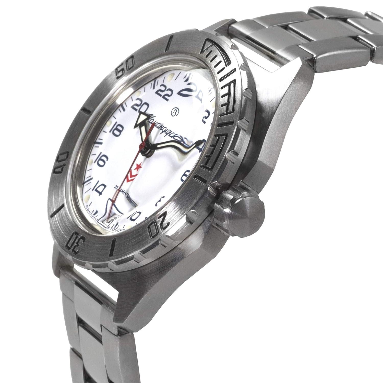 Amazon.com: Vostok Komandirskie Automatic 24 Hour Dial Russian Military Wristwatch WR 200m: Watches