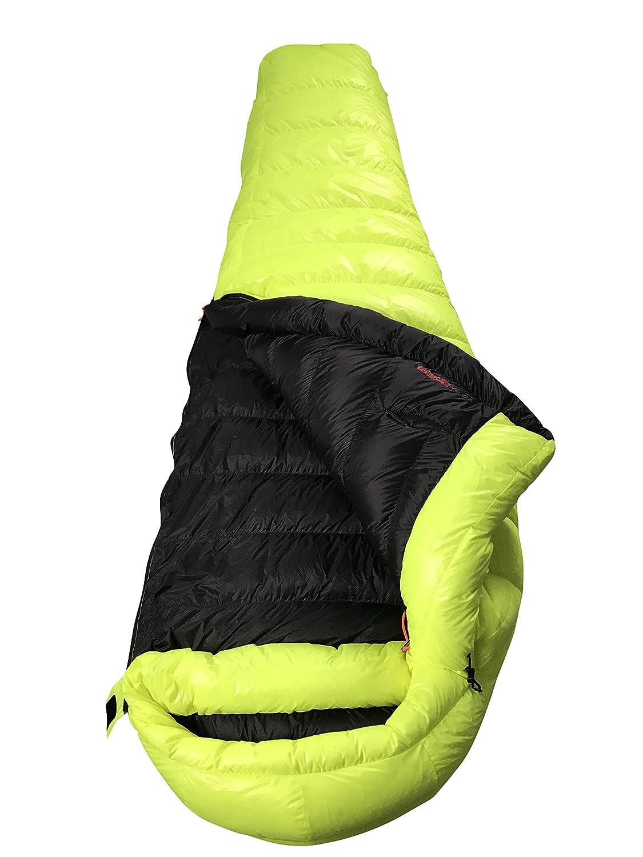 AEGISMAX マミーダウン寝袋 グースダウン寝袋 冬用ダウンスリーピングバック ダウンシュラフ 連結可【耐寒温度-6℃~-1℃ /-12℃~-5℃ 800FP】 B076FB7W8D 黄色 Lサイズ Lサイズ|黄色