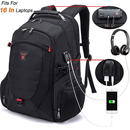 58a5c06a52 Tzowla Travel Laptop Backpack Anti-Theft Water Resistant Business Backpack  TSA Lock   USB Charging