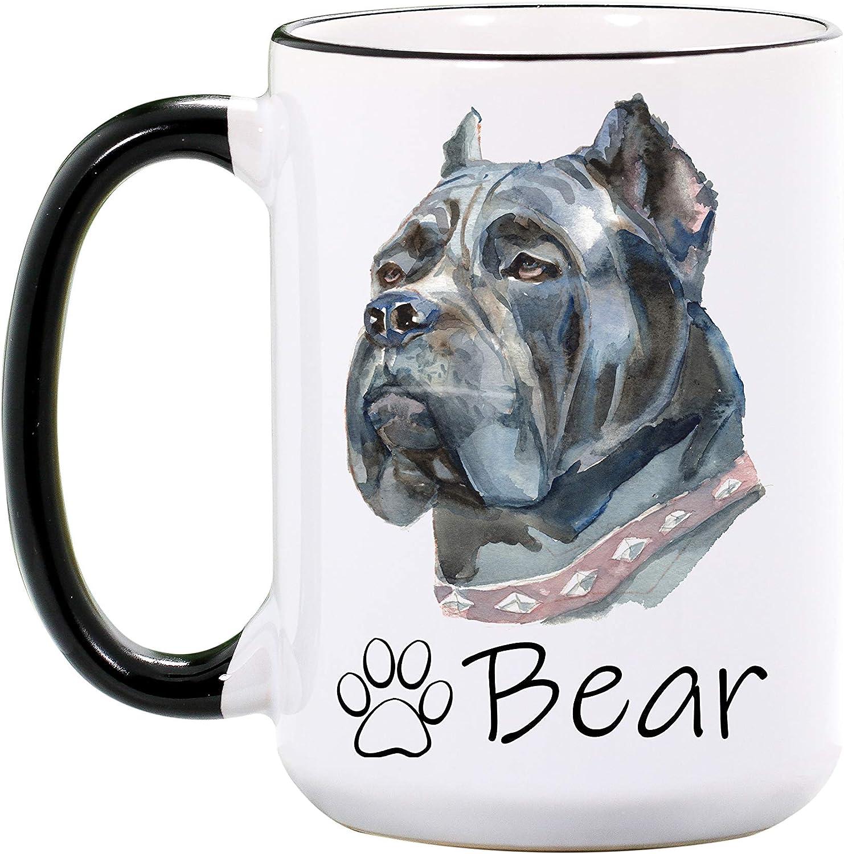 Dog Mug Cottage Creek Dog Breed Dog Lover Gifts Boxer My Heart Belongs To My Boxer Large 18 Ounce White Ceramic Coffee Mug