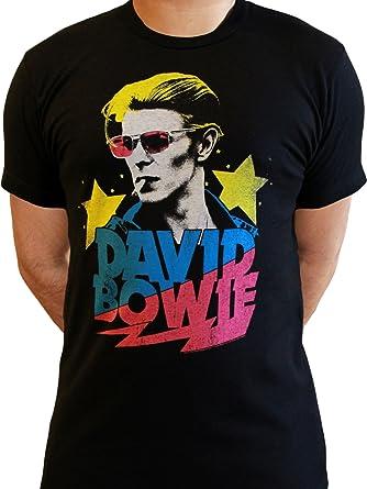 Y Camiseta Negro David MAmazon esRopa Bowie Hombre T3lK1J5ucF