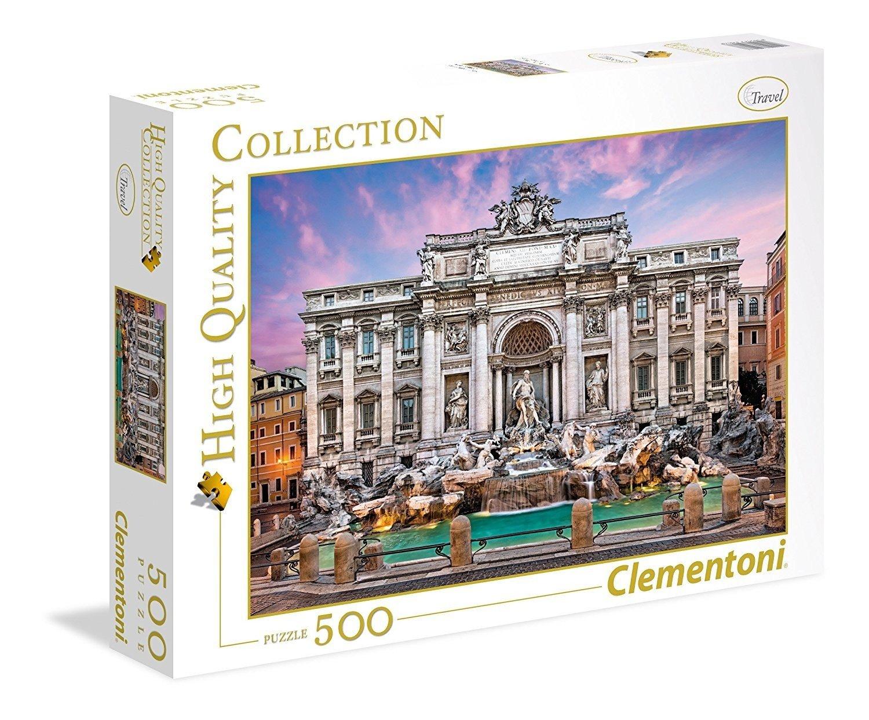 Clementoni - 35047 - High Quality Collection Puzzle -Fontaine de Trevi - 500Pièces
