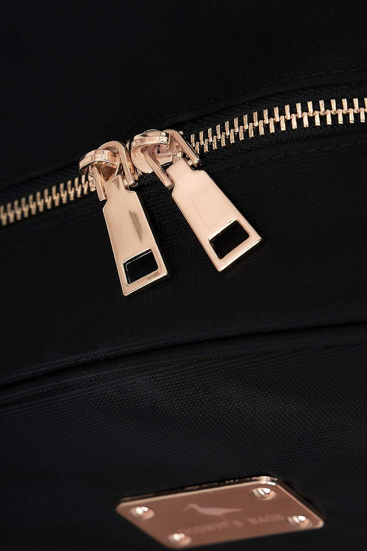Marron GODWIT`S BAGS Femme Grande Qualit/é Nylon Imperm/éable 15.6 Pouces Sac /à Dos Ordinateur Portable Laptop Sac Tendance Computer Port de Charge USB