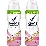 Rexona Déodorant Femme Spray Anti Transpirant Tropical Compressé 100ml - Lot de 2