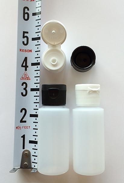 322172efc331 Amazon.com: Save Money! 2 Bottles Travel Bottle 1 Oz HDPE White and ...