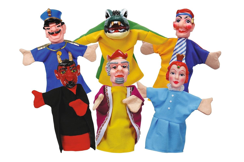 6-Piece Simba 104586784 Punch and Judy Hand Puppet Set