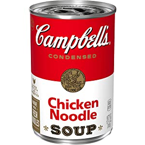Campbell's Condensed Chicken Noodle Soup, 10.75 Ounce Can with Pop-Top Lid