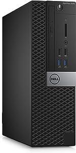 Dell PW7DY OptiPlex 3040 SFF Small Desktop (Intel Pentium G4400, 4GB 1600MHz DDR3L RAM, 500GB HDD, Windows 10 Pro, Black) (Renewed)