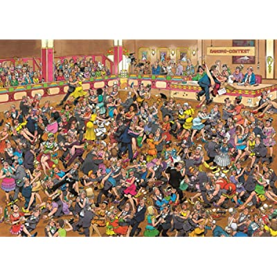 Crowd Pleasers Ballroom Dancing Puzzle 1000 Pieces Jigsaw Puzzle by Jan Van Haasteren: Toys & Games