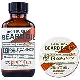 Duke Cannon Supply Co. - Big Bourbon Beard Bundle Set (2 Pack) Whiskey Scented Beard Oil and Beard Balm - Buffalo Trace Bourb