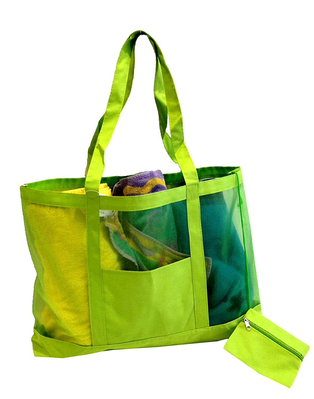 Amazon.com | Getagadget Huge See-Thru Mesh Beach Tote Bag One Size ...