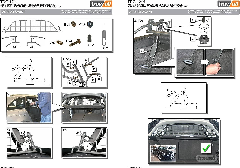 AUDI A4 Avant 2015 - Current Travall® Dog Guard /& Divider TDG1502//D