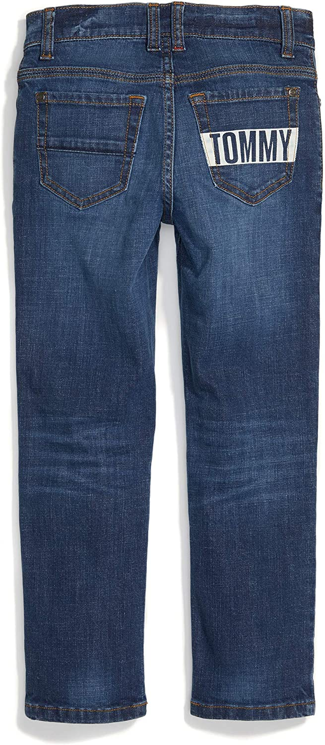 Tommy Hilfiger Boys Adaptive Jeans Slim Straight Fit with Adjustable Waist and Hems