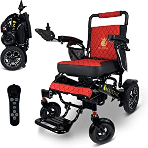 2020 Limited Edition Remote Control Foldable Electric Wheelchair Mobility Aid Lightweight Motorized Power Wheelchairs (19.5
