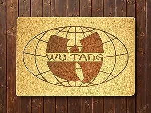 OLESIAstudios Doormat Compatible with Wu Tang Clan Hip Hop Band Door Mat Sweet Home Supplies Décor Accessories Unique Present Idea Original Design Outside Inside Quotes Exterior
