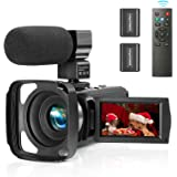 ZUODUN Camcorder Video Camera YouTube Vlogging Camera Recorder Full HD 1080P 30FPS 36MP 3.0 inch Touch Screen IR Night…