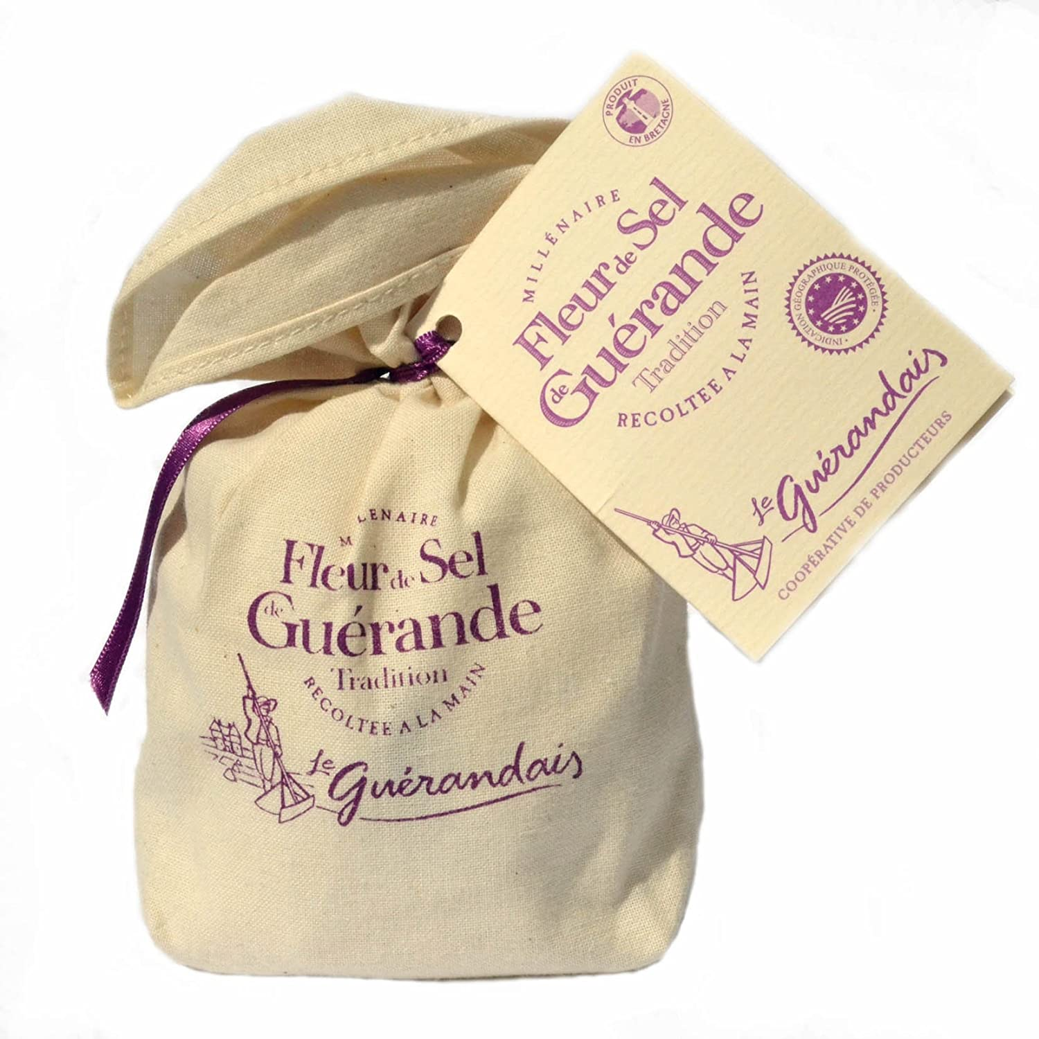 Fleur De Sel De Guerande 125 G In Linen Gift Bag Amazon Co Uk Grocery